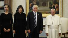 What happened at the meeting between Trump and the pope?