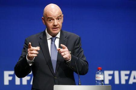 Presidente da Fifa Infantino concede entrevista em Zurique