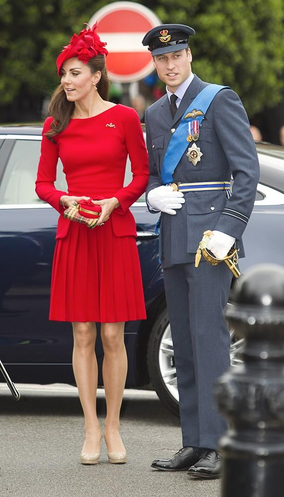 Kate wore a vibrant red Alexander McQueen dress, carrying a clutch by the same designer and sporting her favorite L.K. Bennett heels during the Diamond Jubilee celebrations.