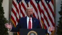 Behind in the polls, Trump unloads on Biden at White House press event