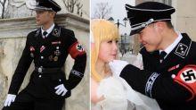 People horrified by bizarre Nazi wedding photo shoot