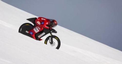 VTT - Le Français Eric Barone établit un nouveau record du monde de vitesse en VTT sur neige à 227,72 km/h sur la piste de KL de Vars