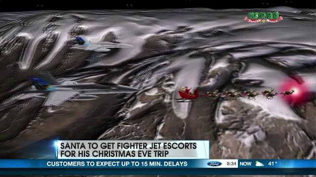 Santa To Get Fighter Jet Escort On Christmas Eve?