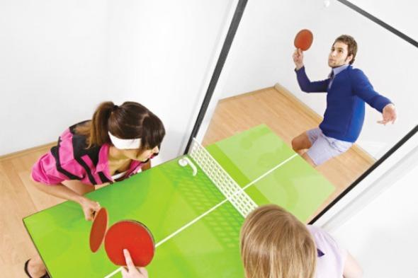 """<p>For those days when you can't beat a game of ping pong but can't be bothered to bring the table down from the loft, why not try the ping pong door from Tobias Fräenzel?</p>  <p>It's a fully-functioning door, but when you need a spot of pinging and ponging you can flip it down to form a table. <a href=""""http://www.houzz.com/photos/205948/PingPong-Door-interior-doors"""" target=""""_blank"""">Houzz.com</a> has it on offer for 990 euros. Just don't ask how people get through the doorway while you're playing.</p>  <p></p>"""