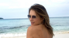 Elizabeth Hurley, 53, stuns in a barely-there bikini: 'Puts girls in their 20s to shame'