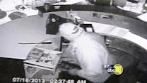 Crook caught on camera in cupcake shop