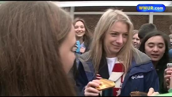 Celebrations held for Olympian Kearney