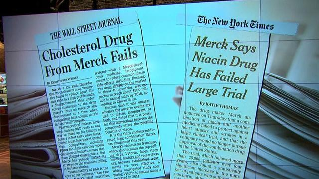 Merck warns doctors don't prescribe Tredaptive