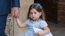 Watch Princess Charlotte Tell Photographers They're 'Not Coming' to Her Brother's Christening