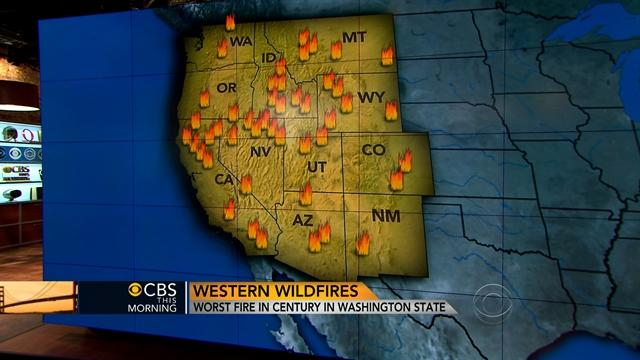 Western wildfires continue to burn; one of the worst fire seasons on record