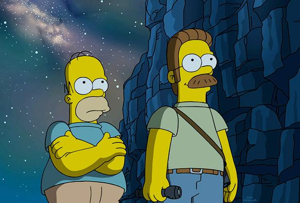 The Simpsons Sneak Peek Homer Joins Ned On A Mystical Musical
