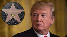 Fight erupts at Donald Trump's Walk of Fame star days after it was vandalized