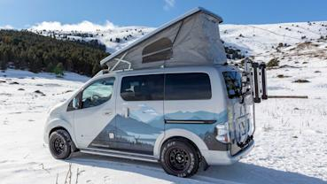Nissan e-NV200 Winter Camper 展示了未來冬季露營的願景