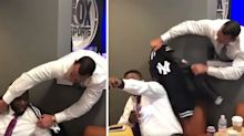 A-Rod put a Yankees jacket on David Ortiz and it went as well as you'd expect