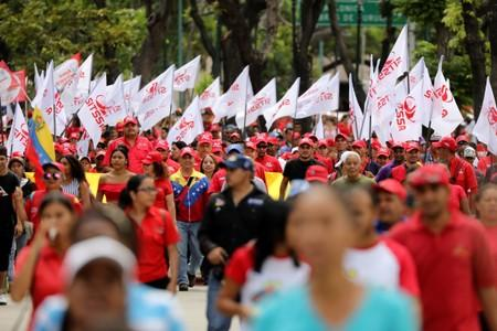 Supporters of Venezuela's President Nicolas Maduro take part in a pro-government rally in Caracas