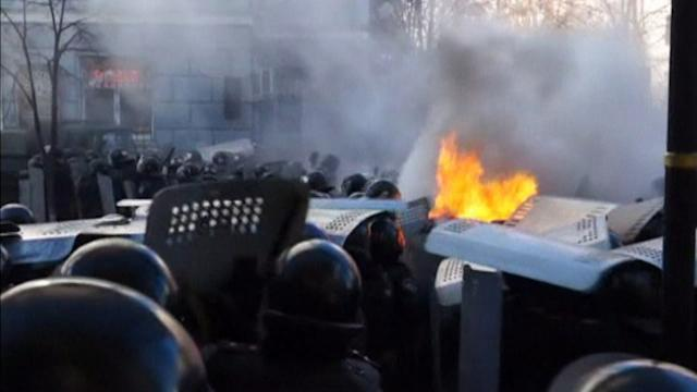 UKRAINE PROTESTERS MARCH