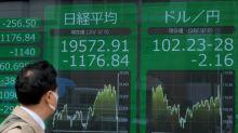 Bolsas asiáticas desabam após queda do petróleo