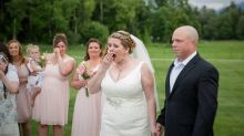 Bride surprised at wedding by the recipient of her late son's donated heart