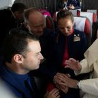 Pope defends in-flight wedding from conservative headwinds