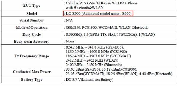 LG's E900 and E720 handsets hit the FCC, one with AT&T-compatible frequencies