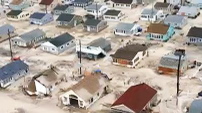 Raw: Homes in NJ flooded, destroyed by Sandy