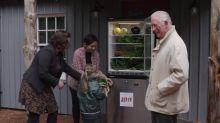 Charles opens Community Fridge Network's 100th fridge