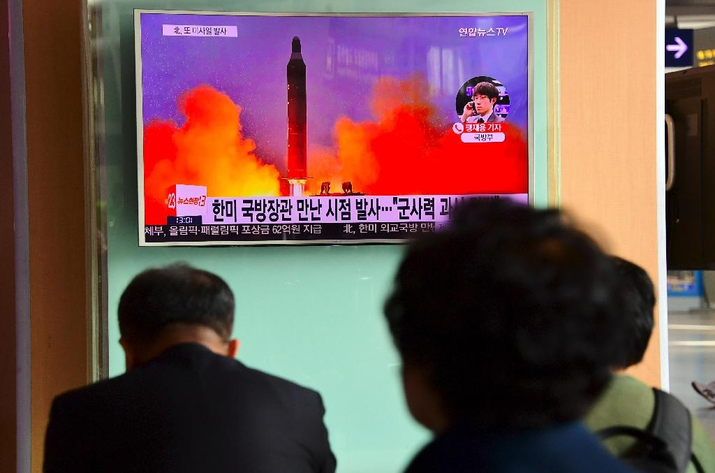 """Robert Einhorn, who until 2013 was State Department special adviser for non-proliferation and arms control, told AFP that Kim Jong-un's threat to test an ICBM was not new, but he said, """"Whether they can deliver it is another story"""" (AFP Photo/JUNG YEON-JE)"""
