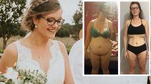 Aussie bride drops 51kgs before walking down the aisle