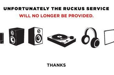 Ruckus music service calls it quits