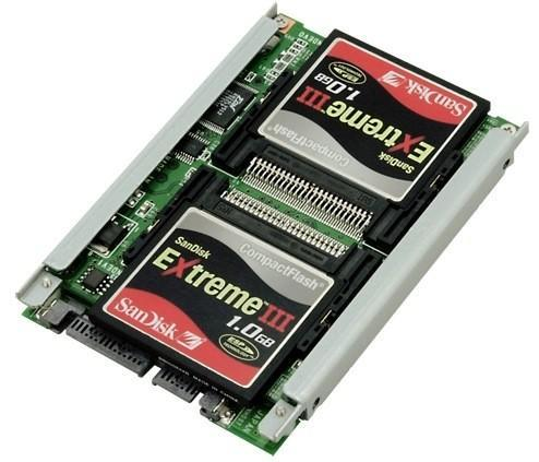 Century's SATA adapter supports 3 CF cards: cheap SSDs for all