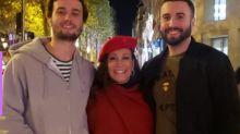 Susana Vieira posta ao lados dos netos em Paris