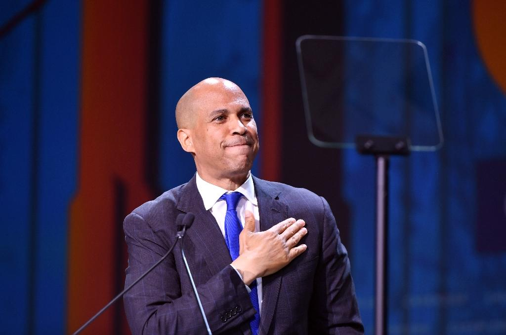 """Senator Cory Booker was the first 2020 Democratic presidential candidate to speak out against former vice president Joe Biden invoking segregationist senators as examples of lawmakers he treated with """"civility"""" in order to reach consensus (AFP Photo/Josh Edelson)"""