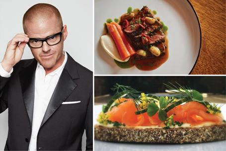 Celebrity chefs Heston Blumenthal, Nobu Matsuhisa and Neil Perry at F1 Singapore Grand Prix's Paddock Club