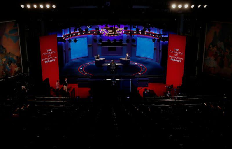 Preparations continue for the U.S. vice presidential debate between Vice President Mike Pence and Senator Kamala Harris in Salt Lake City, Utah