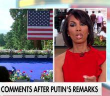 Fox News host Harris Faulkner complimented Vladimir Putin for answering questions for longer than Joe Biden - before the US president even spoke