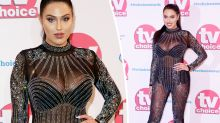Love Island star Anna Vakili arrives at TV awards in naked bodysuit