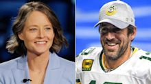 Jodie Foster's Love Fest With Aaron Rodgers Continues With Golden Globes Shoutout