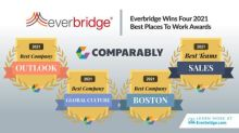 Everbridge Wins Four 2021 Comparably Awards for Best Company Outlook, Best Global Culture, Best Sales Team, and Best Places to Work