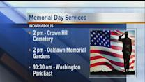 Memorial Day services planned in Indy