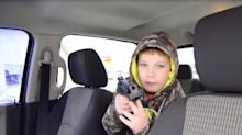 9-year-old with a pellet gun scares a carjacker away from his dad's truck