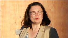 Nahles schließt Koalitionsbruch wegen Streits um Maaßen aus