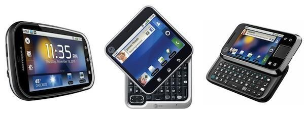 AT&T debuts trio of Motorola Android phones: Bravo, Flipout and Flipside