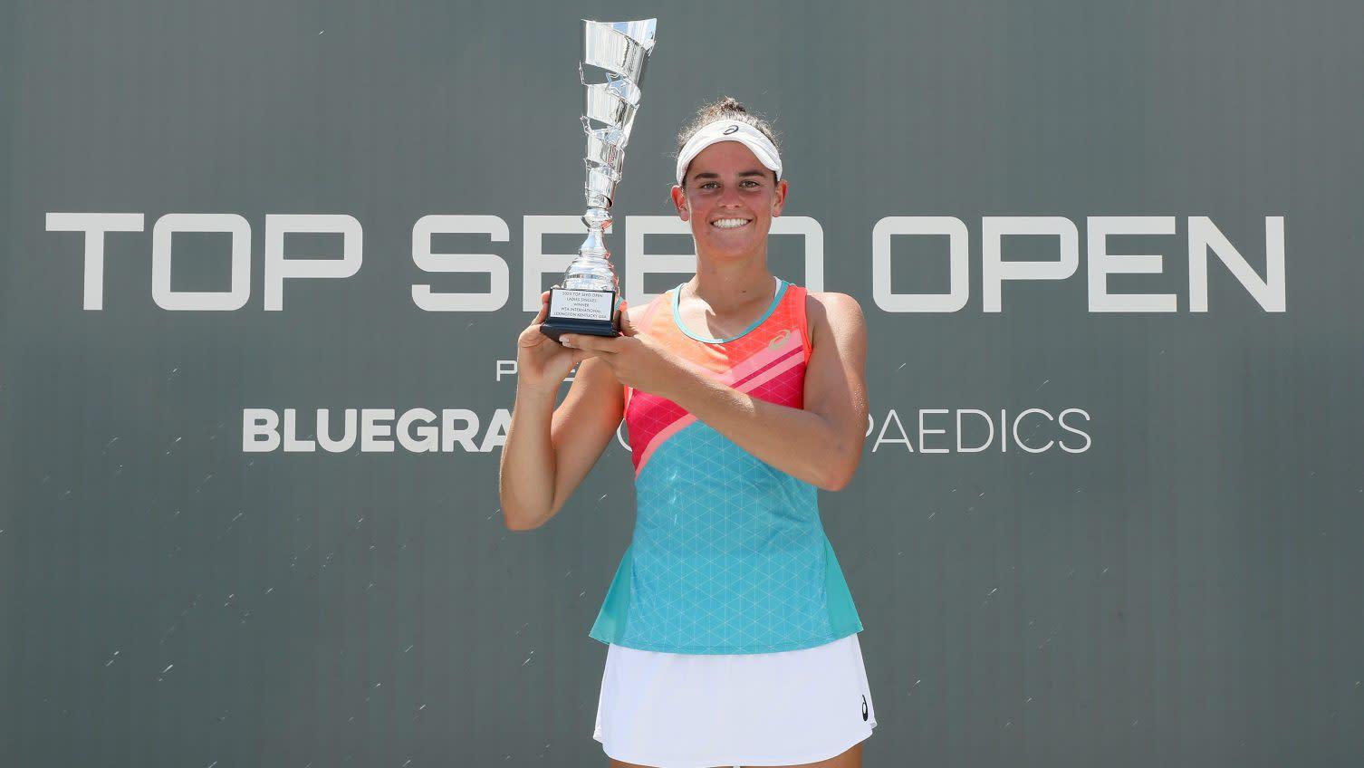 Jennifer Brady preps for U.S. Open by winning first tour title