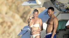 Chrissy Teigen and John Legend Show Off Their Beach Bodies in Sardinia
