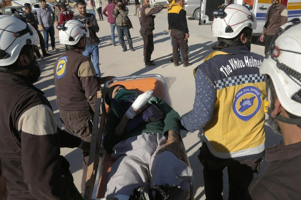 Founded in 2013, the Syria Civil Defence, or White Helmets, is a network of first responders who rescue wounded in the aftermath of air strikes, shelling or blasts in rebel-held territory