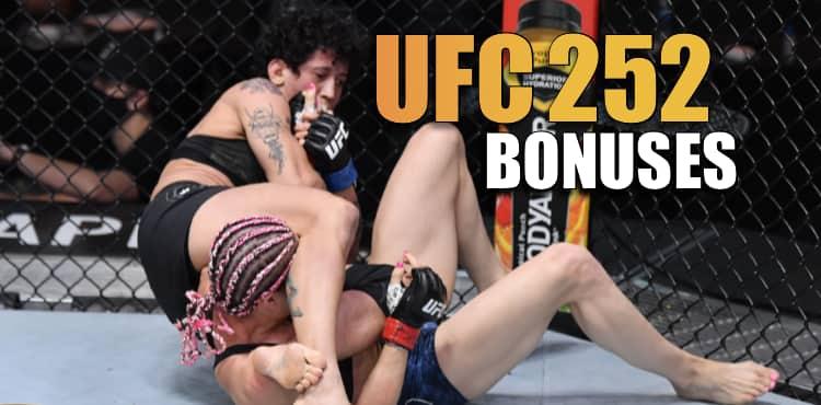 Virna Jandiroba and Daniel Pineda led charge on UFC 252 post-fight bonuses