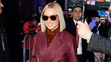 Kristen Bell wore 3 versions of the season's must-have coat in one day