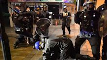 'Police assaulted me': Violent scenes on streets of Britain