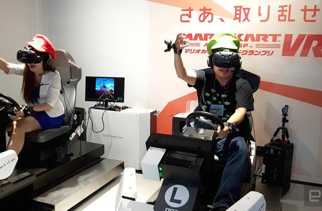 This Japanese VR arcade put me inside 'Mario Kart'