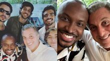 Sem Neymar e Medina, Huck curte fim de Carnaval com atores no Rio